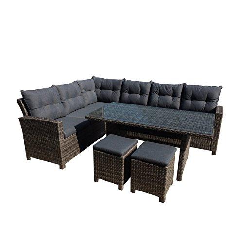 greemotion 129881 Rattan Lounge Set TESSIN-Loungemöbel 5teilig für Garten & Terrasse-Gartenmöbel...