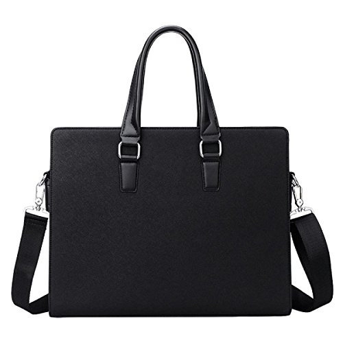 Leder Handtasche Männer Aktenkoffer Business Tasche Computer Tasche Black
