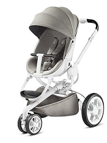 Quinny Moodd Kinderwagen, mit automatischer Aufklappfunktion, Ruheposition in beide Fahrtrichtungen, modernes Design, ab der Geburt bis ca. 3,5 Jahre, grau