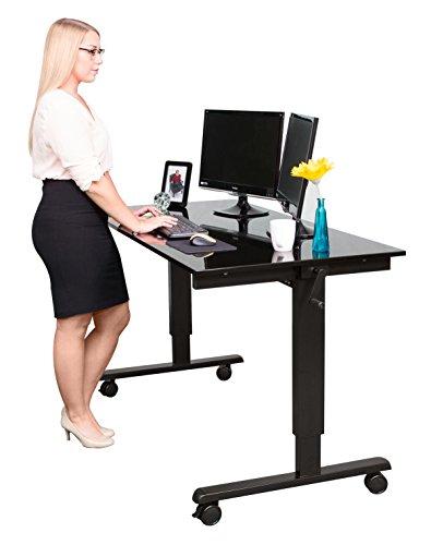 Manuell höhenverstellbarer Schreibtisch (Farbe: wählbar, Länge: 120 oder 150cm)
