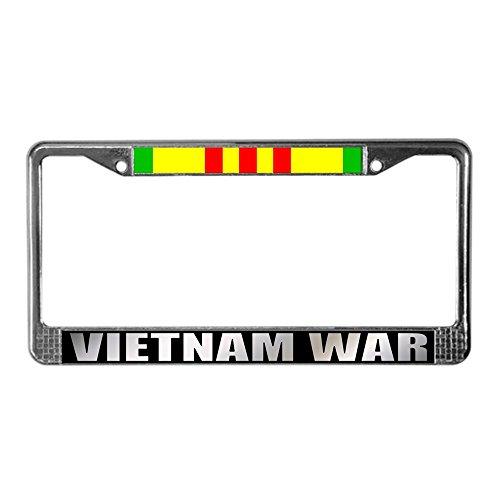 Cafepress-Vietnam Veteran Service Ribbon-Targa telaio cromato targa telaio, licenza tag Holder