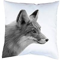 Kissen mit Druck Fuchs Kissenbezug mit Motiv 40x40 cm Kissenhülle beidseitig bedruckt mit oder ohne Füllung