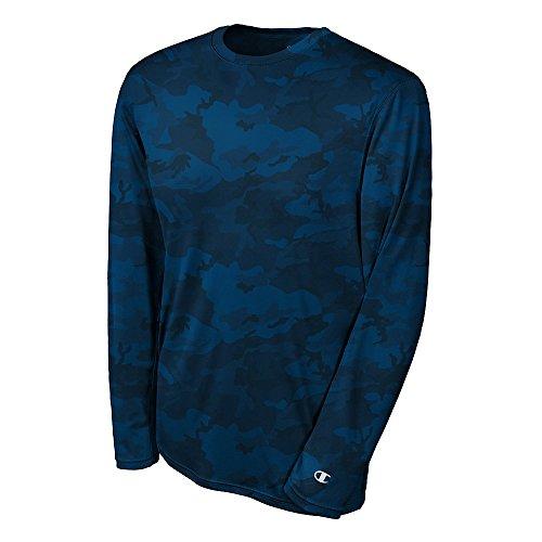 Da uomo Champion Double Dry-Maglietta a maniche lunghe Navy Blue Camo