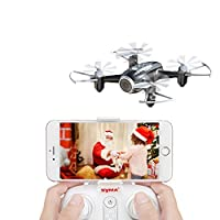 FPV RC Drone Mini Drone Syma X22W Nano Quad Copter WiFi FPV Pocket Drone HD Camera RTF Mode 4 Channel Headless Mode Remote Control Altitude Hold Quadcopter by Syma