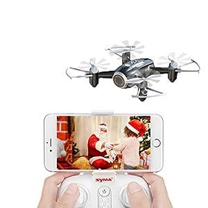 FPV RC Drone Mini Drone Syma X22W Nano Quad Copter WiFi FPV Pocket Drone HD Camera RTF Mode 4 Channel Headless Mode Remote Control Altitude Hold Quadcopter by Syma