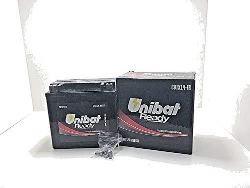 Batteria Moto Pronta all'Uso UNIBAT READY CBTX14-FA NEXUS FUOCO 300 500