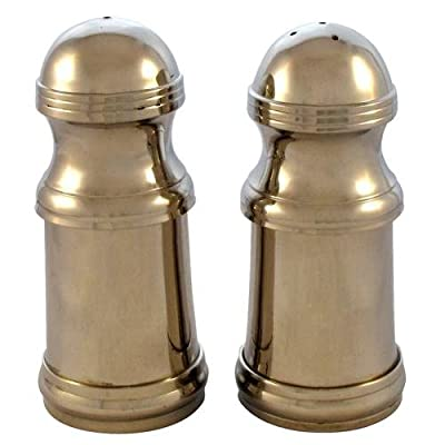 Salt and Pepper Cruet Set Nickel Plated & Lined from Crystal Edge Ltd