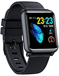 Smartwatch Waterproof IP68 Smart Watch with Heart Rate Monitor Fitness Tracker Smart Watch Fitness Watch with Pedometer Sleep Monitor Call SMS Notification Push for Android and iOS