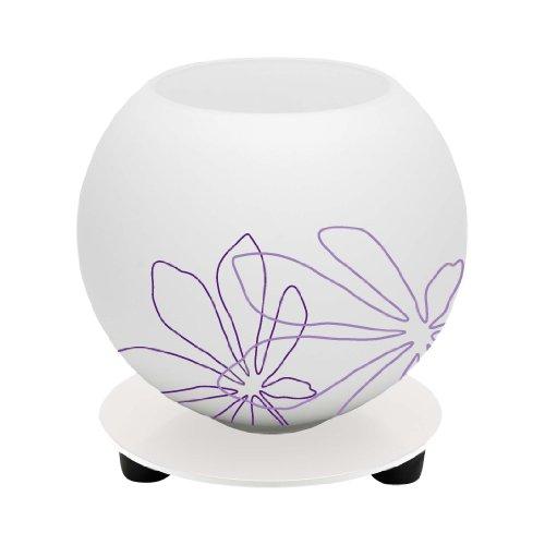 Auf Einem Floral Tisch Lampe (Brilliant Tischleuchte Pop florales Muster, weiß/violett 01947/78)
