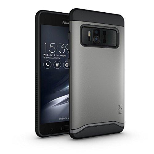 Asus ZenFone AR Hülle, TUDIA Slim-Fit Merge Dual Layer Schutzhülle für Asus ZenFone AR (ZS571KL) (Metallic Slate)