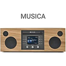Como Audio: Musica Wireless Speaker - Hand-Crafted Veneer Cabinets- One Touch Streaming, Internet Radio, Bluetooth, Wi-Fi - CD Player (Hickory/Black)