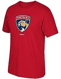 Florida Panthers New Logo Reebok NHL Primary Logo Men T Shirt Red