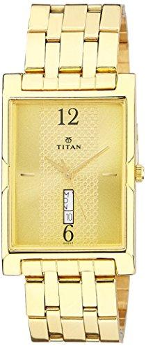 41fHIveeLtL - Titan 1641YM02 Karishma Gold Mens