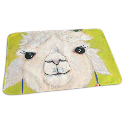 Kotdeqay Baby Changing Pad Liners Alpaca Head Daily Use Diaper Changing Pad Mats Portable Pad 25.5x31.5 Inches