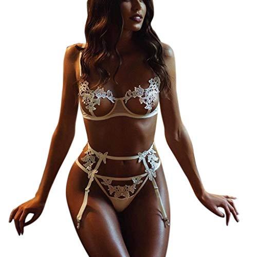 ALISIAM Damen Erotik Dessous Set Sexy Schnürschuhe aus Spitze Aushöhlen Versuchung Rassig Nachtwäsche-Set Frauen Reizwäsche Bustier Lingerie Negligee Unterwäsche Spitzenunterwäsche -