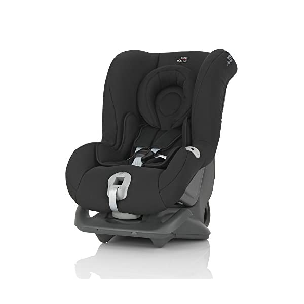 Britax Römer FIRST CLASS PLUS Group 0+/1 (Birth-18kg) Car Seat - Cosmos Black  Extended recline position when rearward facing - the safest way to travel Reassurance built-in - CLICK & SAFE harness tensioning confirmation Superior protection - side impact protection Plus performance chest pads and pitch control system 1