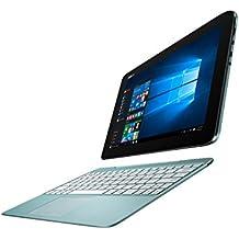 ASUS Transformer Book T100HA-FU008T - Ordenador portátil (Híbrido (2-en-1), Touchpad, Windows 10 Home, Polímero, 64-bit, Azul)(Teclado en Aleman)