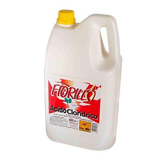Acido Cloridrico Puro Utilizzato Come Disincrostante Per Cemento, Calcestruzzo, Ferro E Disinfettante In Genere. Prodotto Corrosivo.