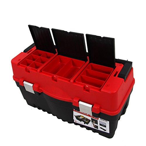 Kunststoff Werkzeugkoffer Formula S ALU 700, 60x33cm Kasten Werzeugkiste Sortimentskasten Werkzeugkasten Anglerkoffer - 5