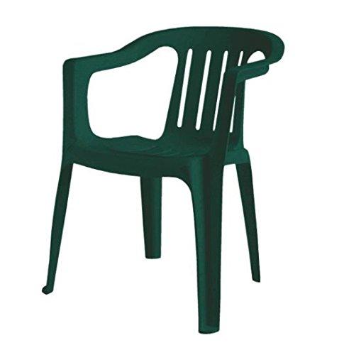 Scab Rudiano Sab348 Sedia Giada Monoblocco, Verde