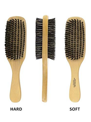 Professionelle Zwei Wege Borsten Pinsel | Hard & Soft Unisex Wave Pinsel | perfekt für Styling Haar | perfekt für Fellpflege Bart