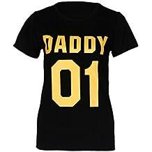 SMARTLADY Camiseta de manga corta del Ropa de la familia - Bebés - Niños - Madre - Padre