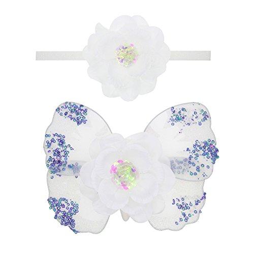 Xxsmile Schmetterlingsflügel und -Stirnband für Neugeborene, Nette Prinzessinphotographiestützen eingestellt (type3)