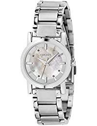 DKNY Damen-Armbanduhr XS Analog Quarz Edelstahl NY4519