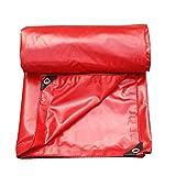 GONGFF Addensare - Tela impermeabilizzante per lavori Pesanti - Tessuto Antipioggia per Giardino - Coprire Il Foglio - Campeggio - 550G / M \u0026 sup2; (Colore: Rosso, Dimensioni: 5x7M)