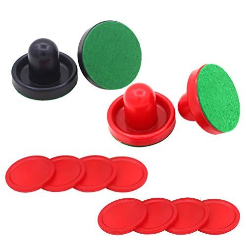 Toyvian 16 Stücke Airhockey Pusher und Drücker für Air Hockey Tisch Spiel 76 MM Air Hockey Zubehör (Rot Dunkelblau)