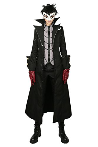 Protagonist Cosplay Costume Hero Men Black Outfit Trench Jacket Tshirt with Accessory for Halloween Clothing Merchandise