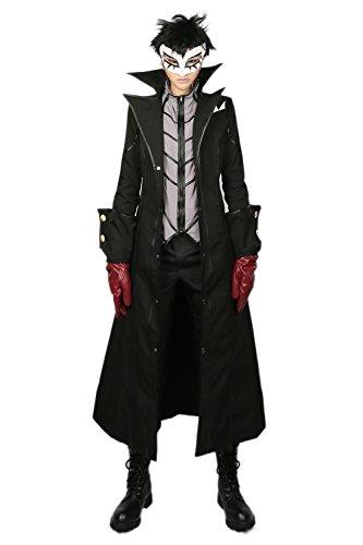 Custom Kostüme Hero Made (Protagonist Cosplay Kostüm Hero Herren Schwarz Outfit Trench Jacke Tshirt mit Zubehör für Halloween Kleidung)