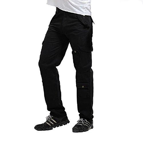 AYG Cargo Hose Herren Mens Cargo Pants(black,34) - Jean-stoff-geldbeutel