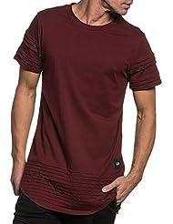 Sixth June - Tee-shirt bordeau oversize nervuré street pour homme