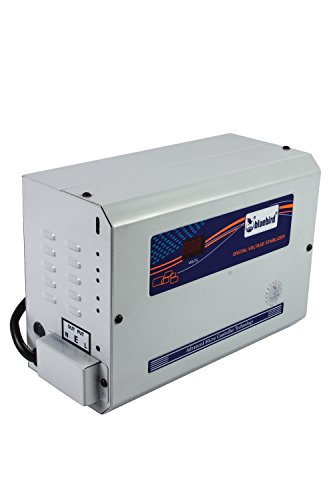 Bluebird Digital Voltage Stabilizer 4kva 150-280v Aluminium For 1 And 1.5 Ton Ac