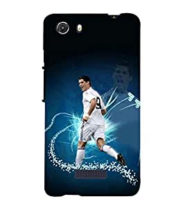 printtech Football Player Back Case Cover for Micromax Q372 Unite 3