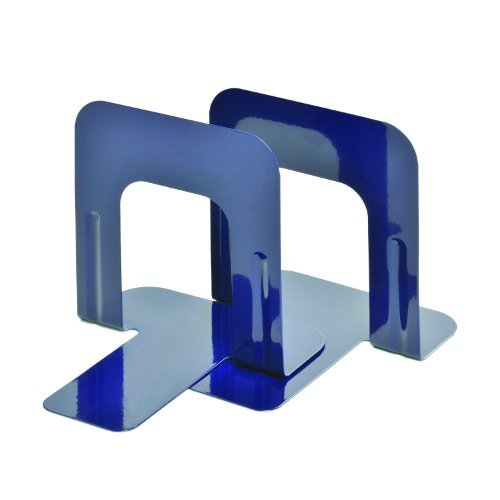 STEELMASTER Soho Collection Economy Steel 5 Inch Bookends, 1 Pair, Cobalt Blue (241005008) by STEELMASTER