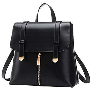 kleiner rucksack coofit damen rucksack leder schwarz daypack rucksack schulrucks cke. Black Bedroom Furniture Sets. Home Design Ideas