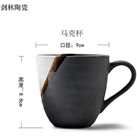 XXOCreative ceramica giapponese la vaschetta del separatore della condensa mug bere acqua cup coppa coppie dipinte a mano la neve e il coperchio , il manto di neve