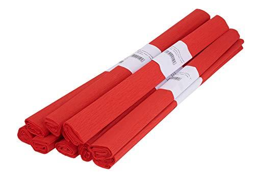 apier ca. 50x200cm Rollen viele Farben Bastelpapier Papier Krepp Bastelkrepp Rot ()