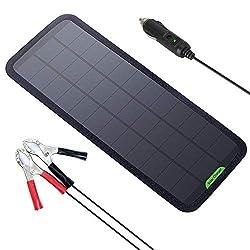 GIARIDE 18V 12V 7.5W Tragbar Solar Autobatterie Ladegerät Sunpower Solarpanel Maintainer Solarladegerät für Auto Boot RV Traktor Motorrad Batterien
