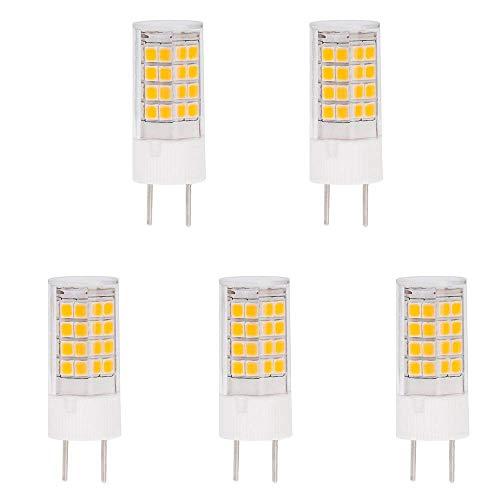 Moderne Task-lampe (hero-led T4g8.6/GY8.6Boden-Sockelung Xenon RHX JCD Typ LED Halogen Ersatz Glühbirne, staubdicht Schutz IP55, 350Lumen, entspricht 35W, 5er Pack (nicht dimmbar) Modern Warmweiß 3000k)