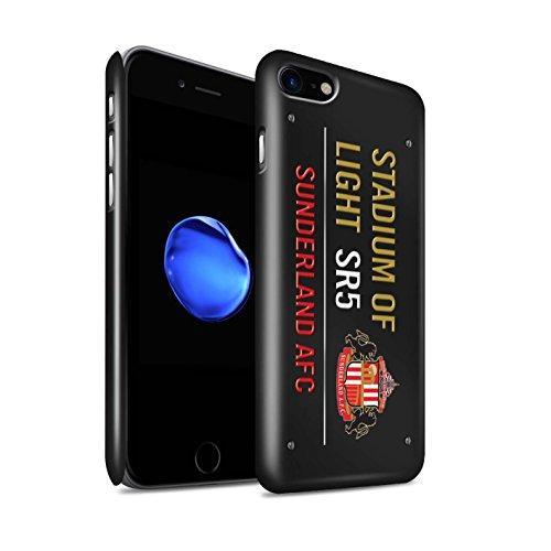 Offiziell Sunderland AFC Hülle / Glanz Snap-On Case für Apple iPhone 8 / Schwarz/Weiß Muster / SAFC Stadium of Light Zeichen Kollektion Schwarz/Gold