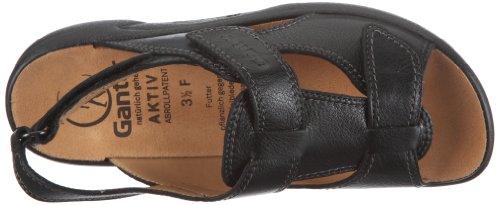 Ganter AKTIV Fabia Weite F 1-202380-0100, Sandales mode femme Noir - Noir