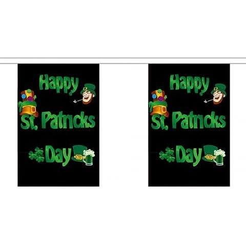 Gigante 18,25 limpiacanalones 30 (45,72 cm x cm 30,48) bandera feliz San Patricio de Irlanda duende irlandés 100% banderines de poliéster Material Ideal para la decoración de la casa Pubs electragolf