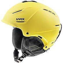 Uvex Casco de esquí p1us, Invierno, Unisex, Color Yellow Mat, tamaño 52