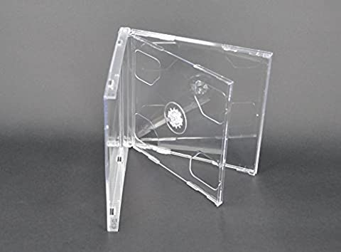 Vision Media 10 X Double Clear CD Jewel Case - 10.4mm Spine by Vision Media