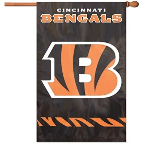 Exclusive By The Party Animal AFBE Bengals 44x28 Applique Banner by Party Animal