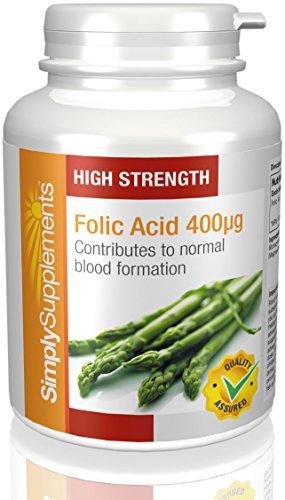 Acido Folico (Vitamina B9) 400mcg 360 Compresse utile in gravidanza e aiuta il cuore e mantiene bassi i livelli di omocisteina