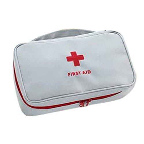 Caja de Slmacenamiento, Emergencia supervivencia botiquín de primeros auxilios tratamiento al aire libre Casa rescate médico bolsa calor LMMVP (Gris, 23 cm X 13 cm x 7.5 cm)